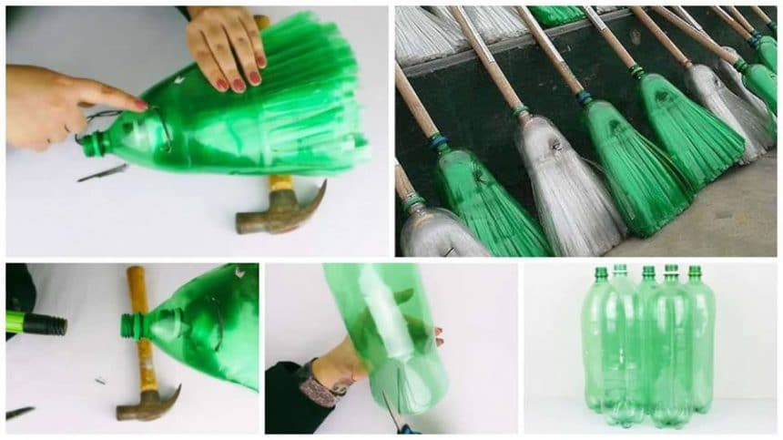 How to make broom from plastic bottles