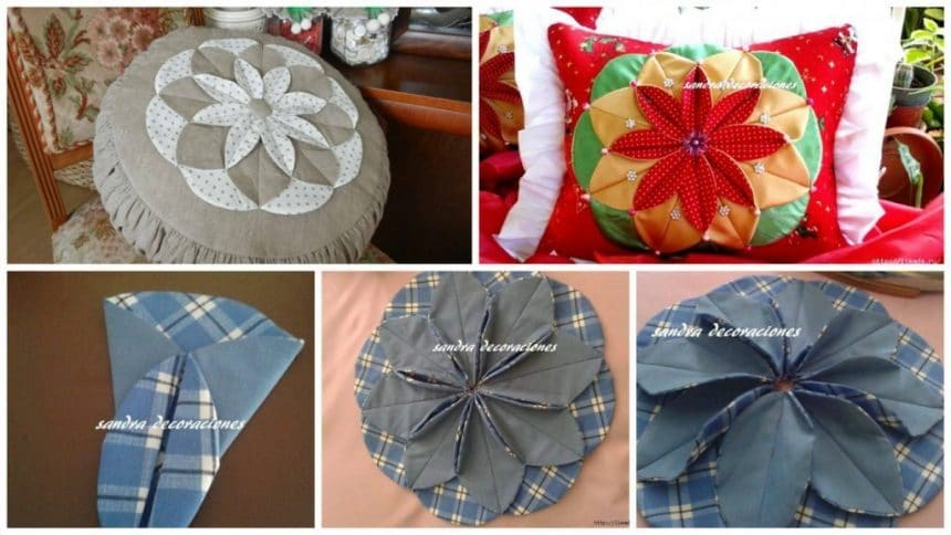 How to make cushion with flowers