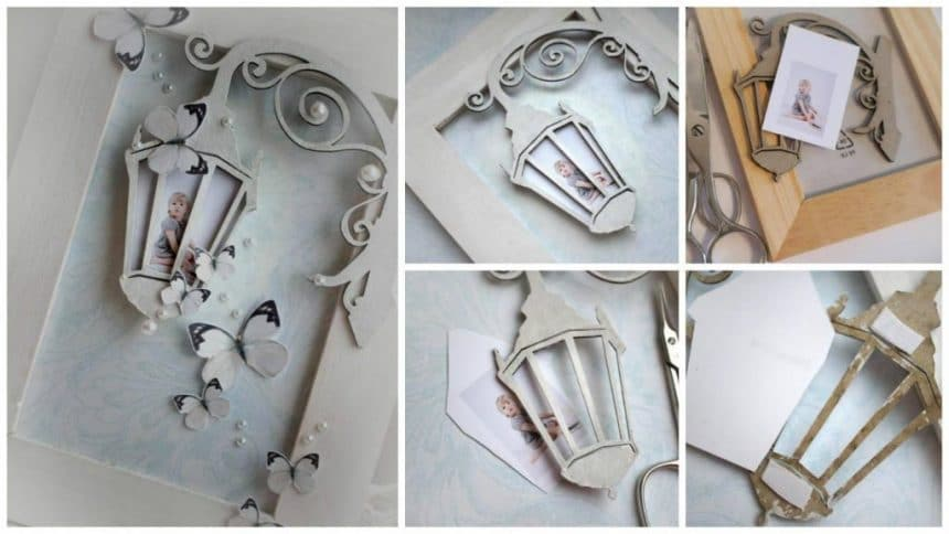 "Photo frame ""magic lantern"" in the scrapbooking techniques"