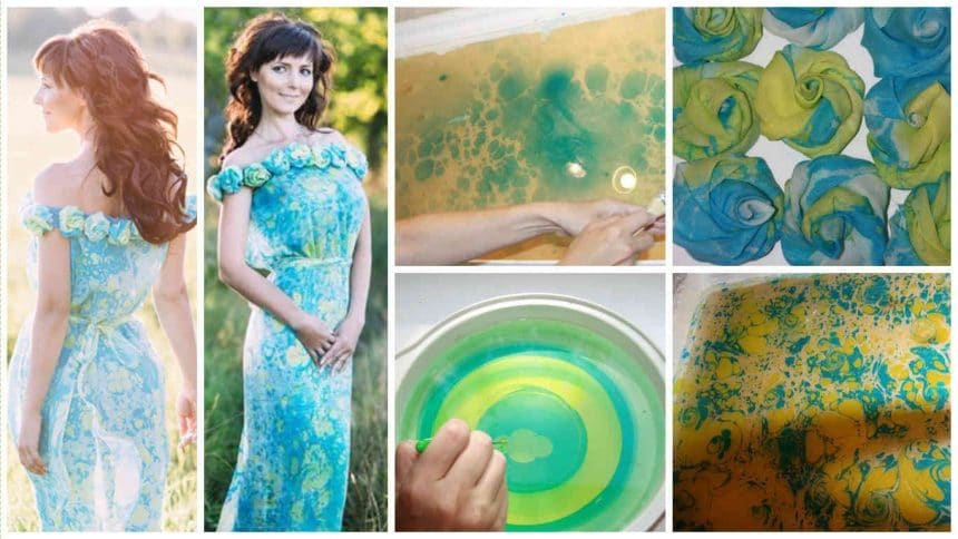 How to painted and sewed a dress