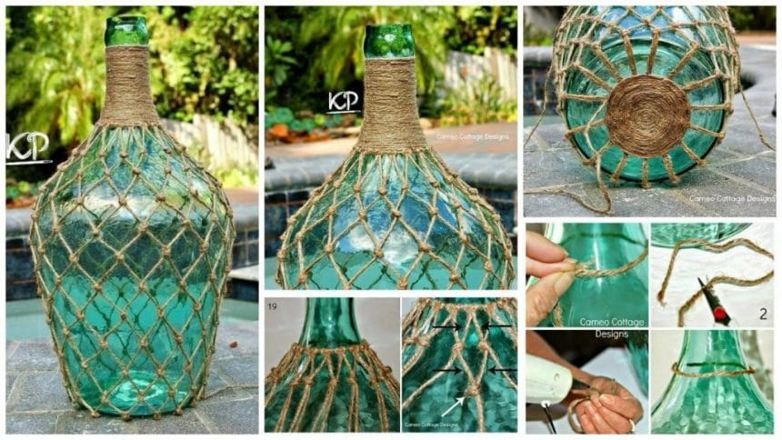 How to make rope bottle