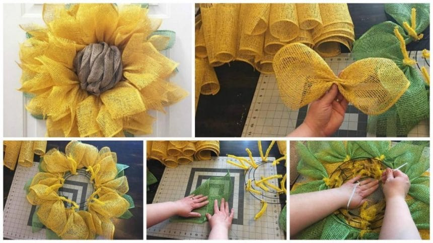 How to make sunflower from burlap