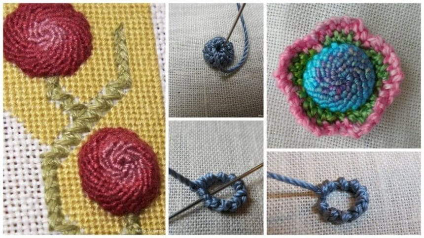 How to spiral stitch in embroidery