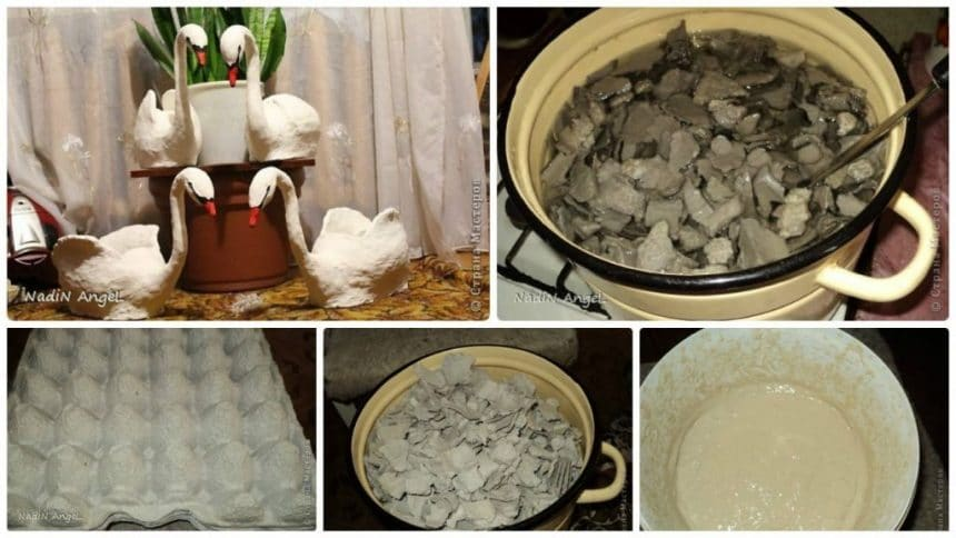 How to make paper mache from egg tray