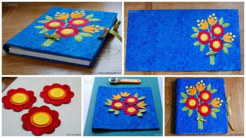 How to make applique cover for notebook
