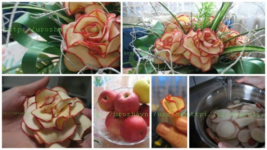How to make decorative apple rose