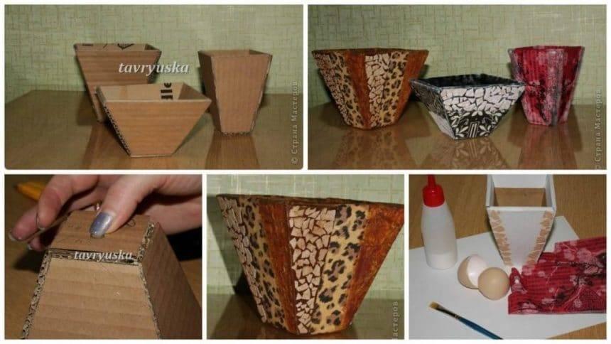 Vase made of cardboard