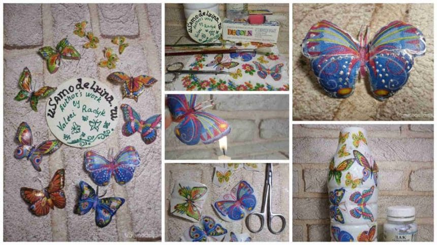 How to make decoupage butterfly