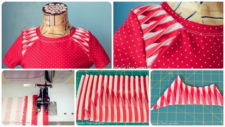 How to sew pleated shoulde