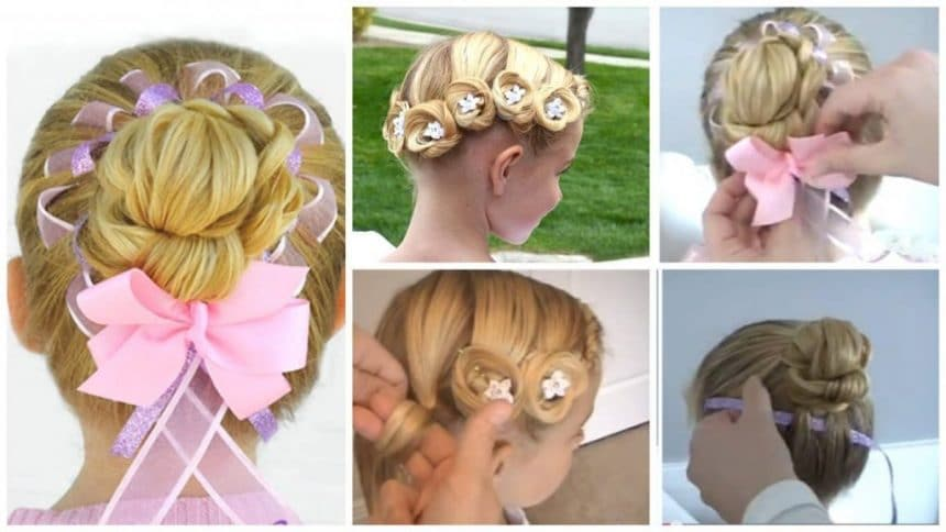 Interesting hairstyles for girls on holiday
