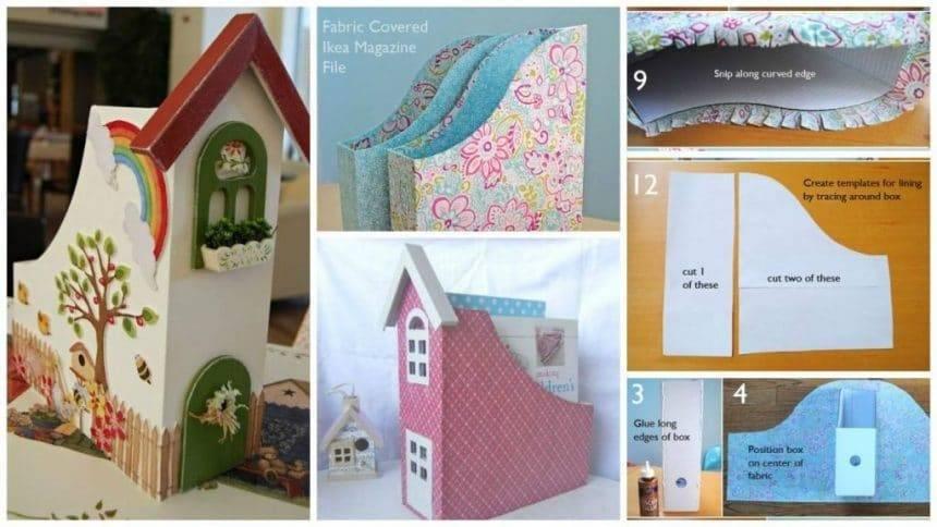 How to make cute paper organizer