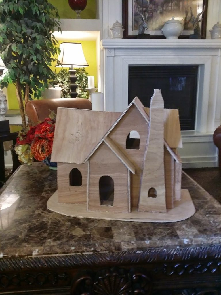 house from paper mache