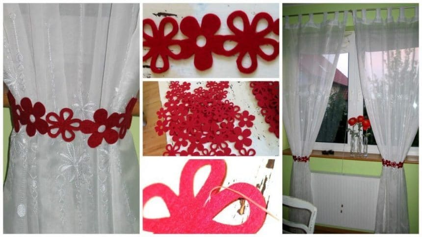 How to make curtain tie