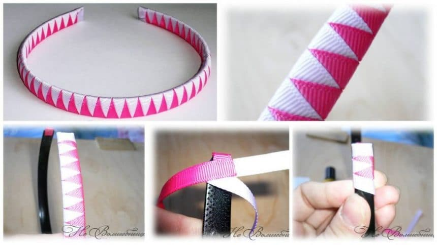 How to make braided rim from two ribbons