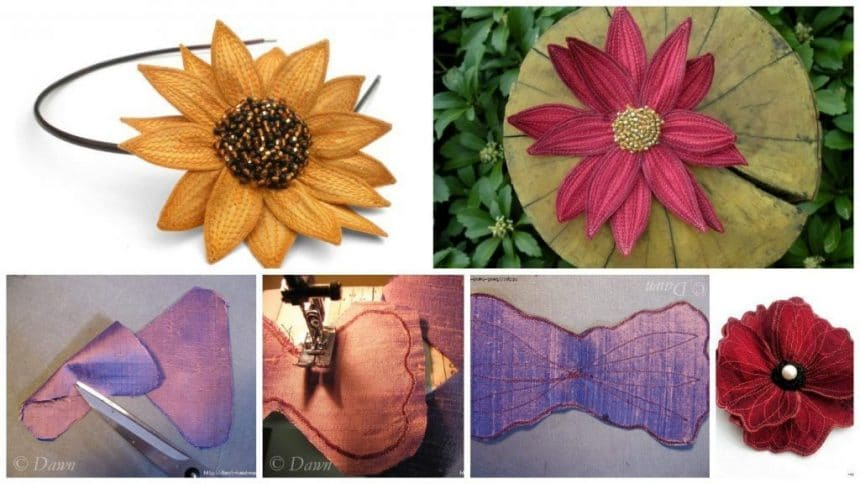 How to make stitched flowers out of tissue