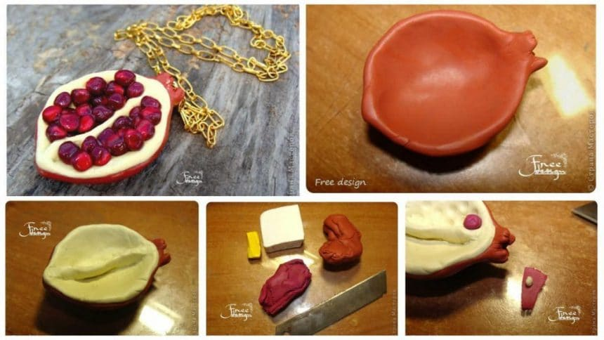 How to make pomegranate pendant
