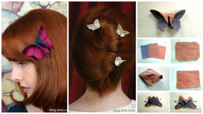 How to make butterfly hair clip