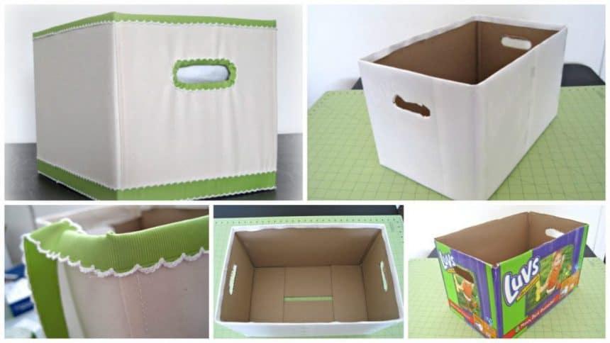 Carton box to make at home