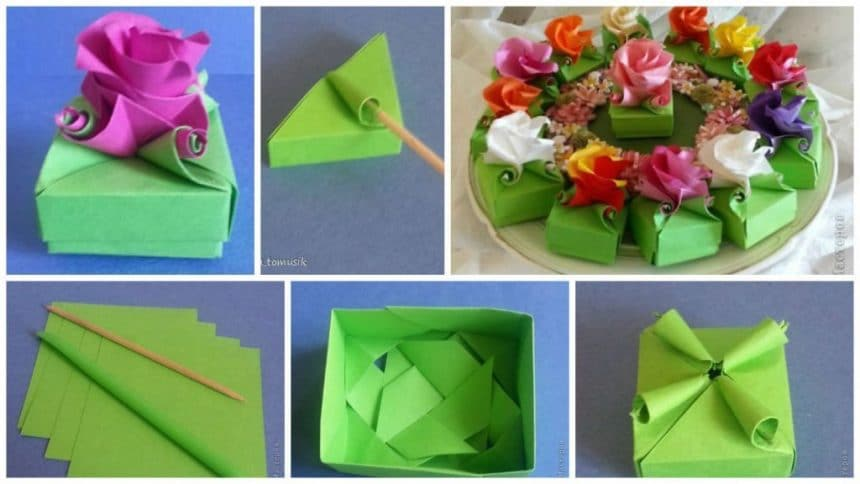 How to make origami gift box