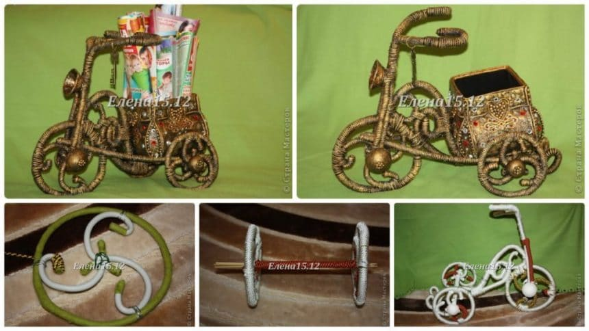 How to make bike for magazines and newspapers