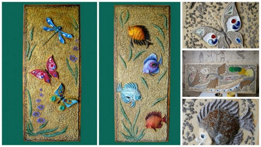 How to make wall panels made of papier-mache