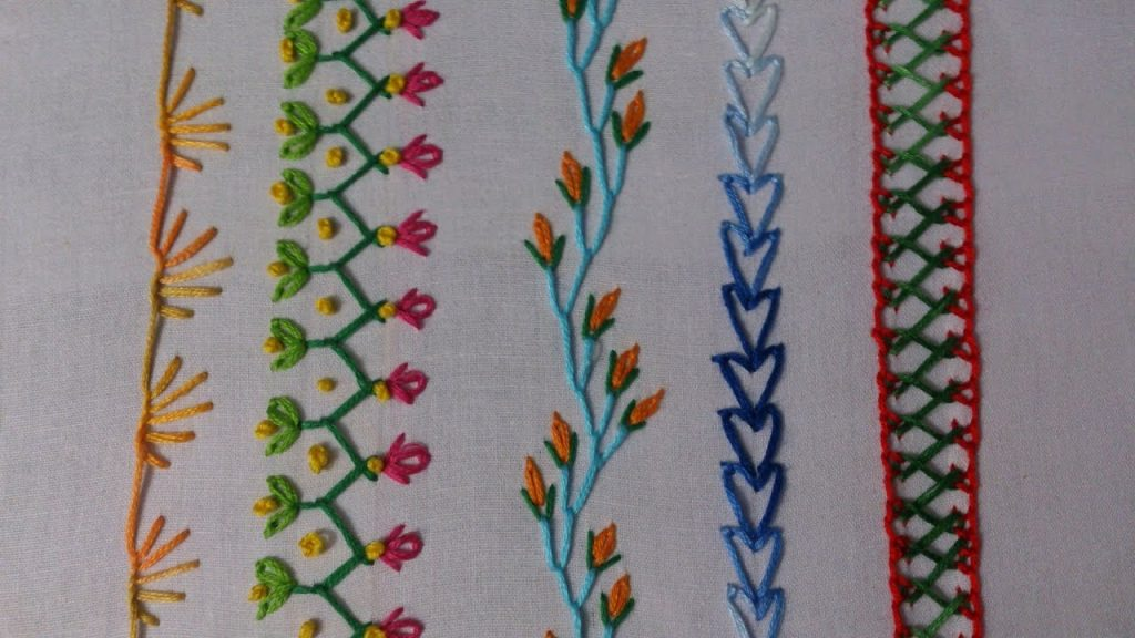 Basic embroidery stitches tutorial for beginners  Simple