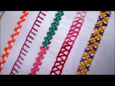 Basic Embroidery Stitches Tutorial For Beginners Simple Craft Ideas