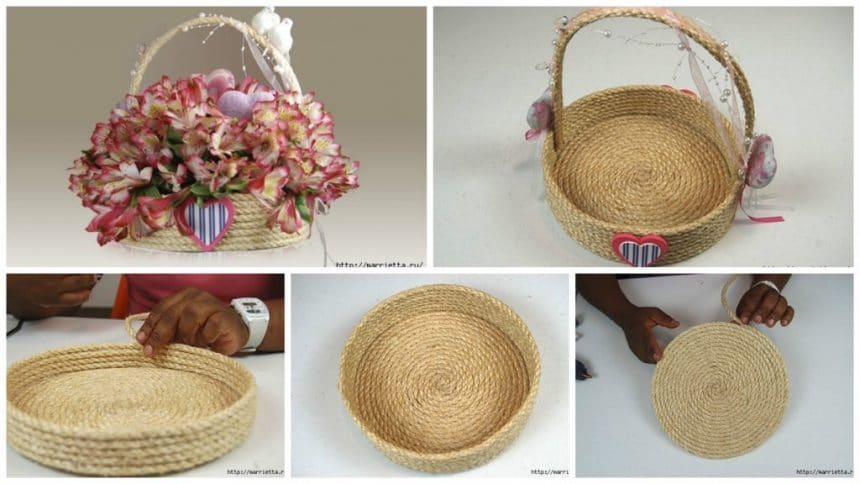 How to make gift basket from rope