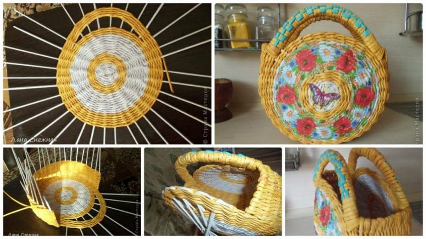 How to make wicker handbag