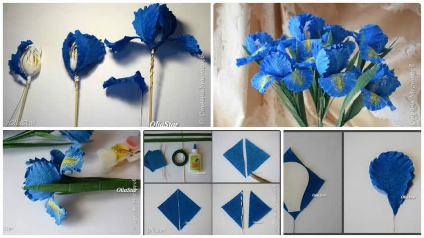 How to make Irises from corrugated paper