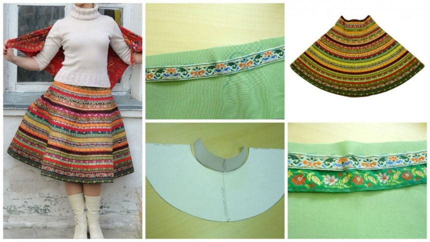 How to sew a skirt of lace jacquard