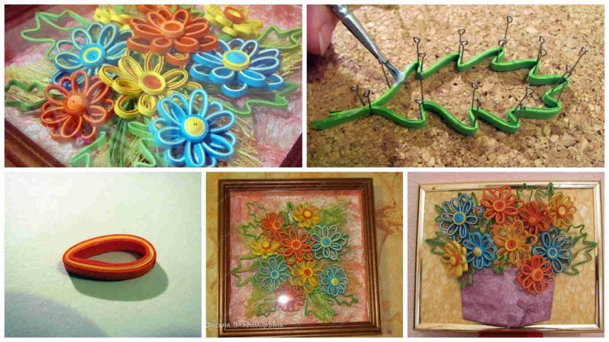 How to make quilling flower