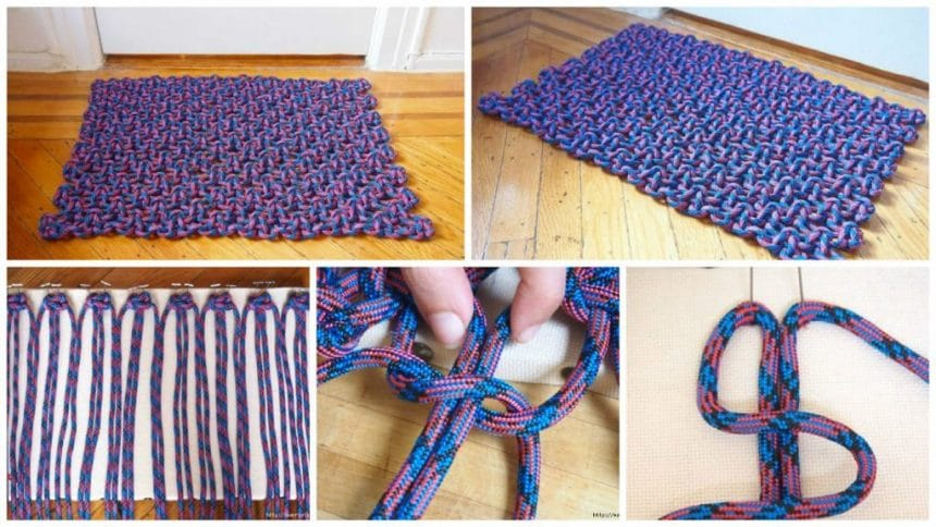 How to woven mat in the art of macrame