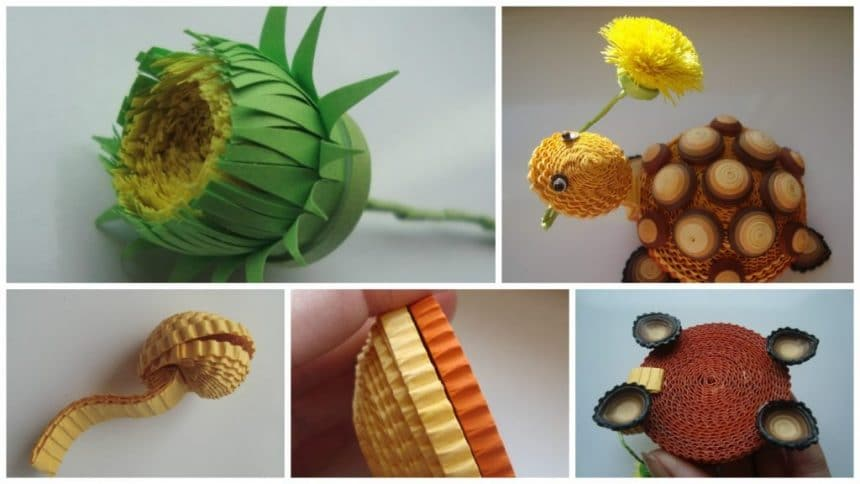 How to make quilling turtle
