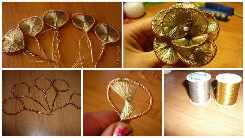 How to make golden rosette