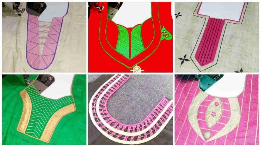 How to make different types of kurtha neck