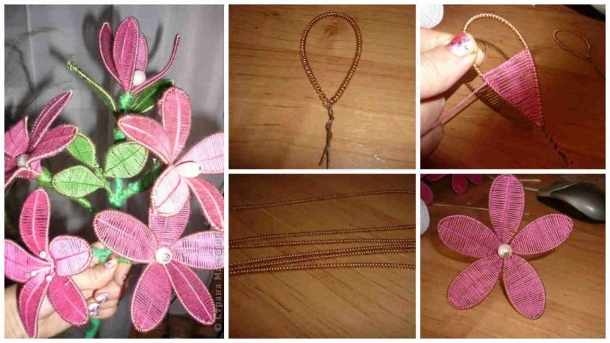 How to make lilies from wire