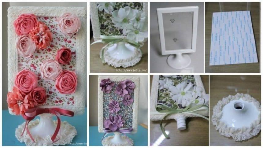 How to make floral frame for interior decoration