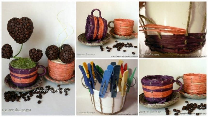 How to make teacup vase for topiary