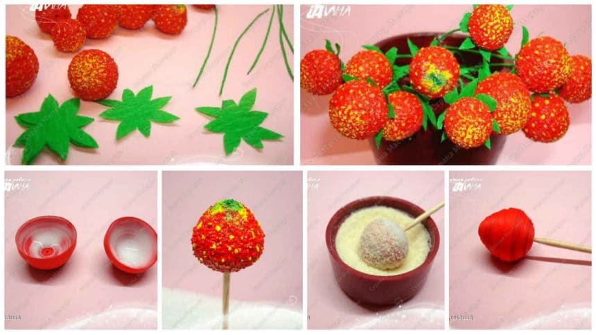 How to make quilling strawberry