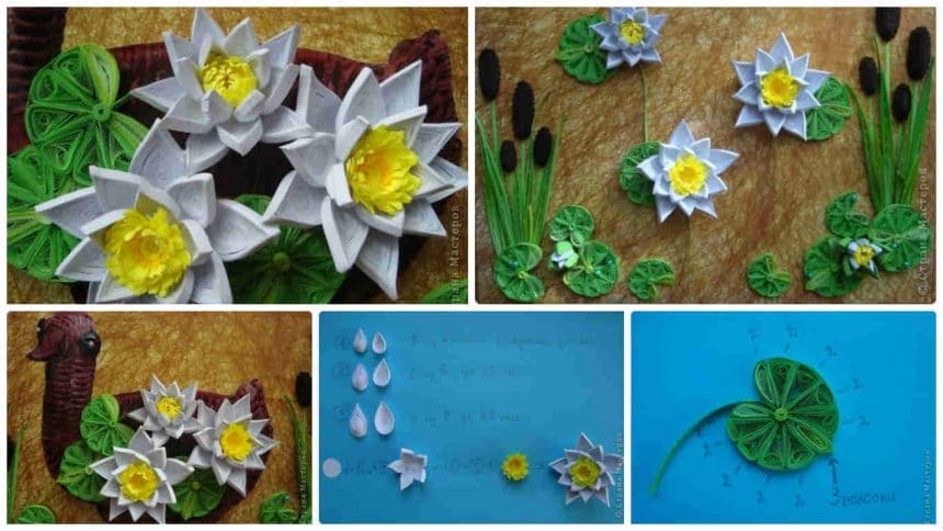 How to make quilling lilies