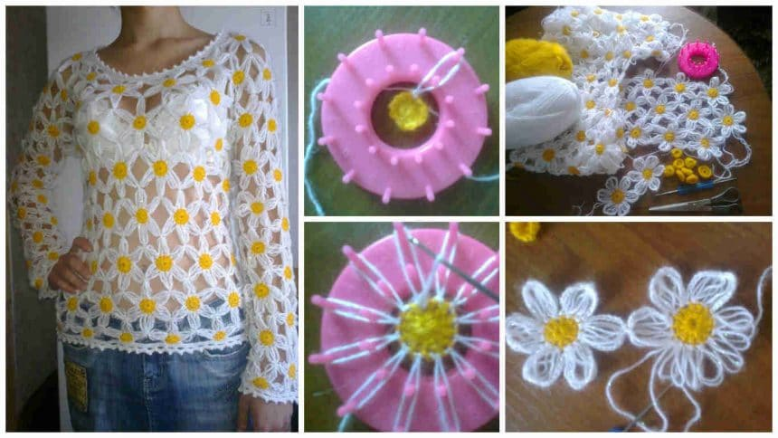 How to make daisy crochet shawls