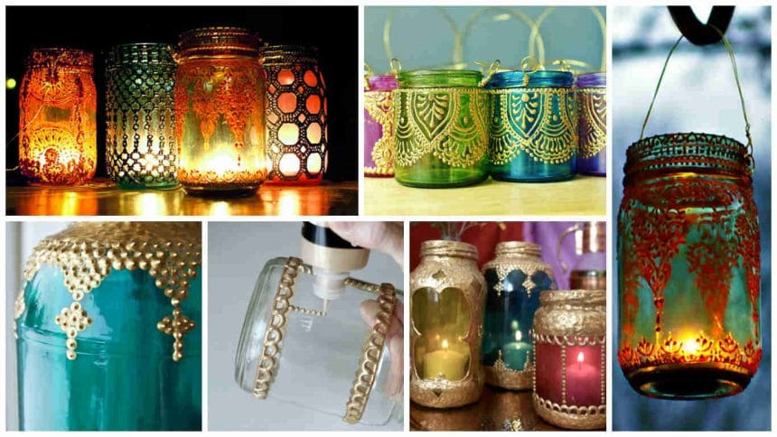 How to make decorative lamp from spot painting