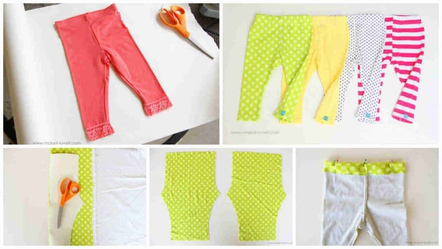 How to sew a simple leggings for kids