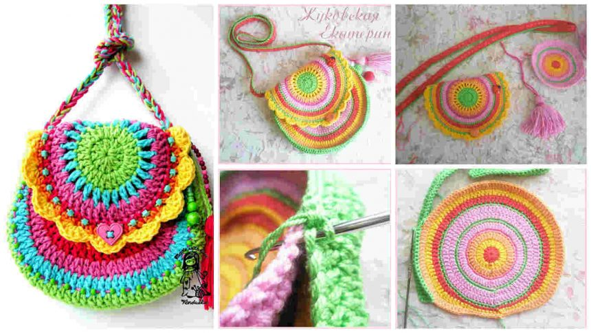 How to make colourful bag from yarn
