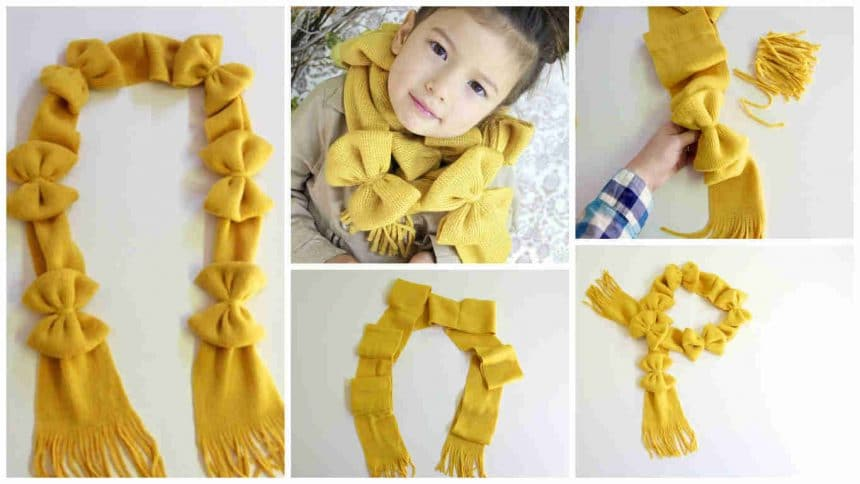 How to make scarf with bows