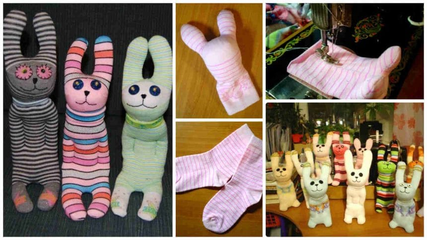 How to make  bunny from socks