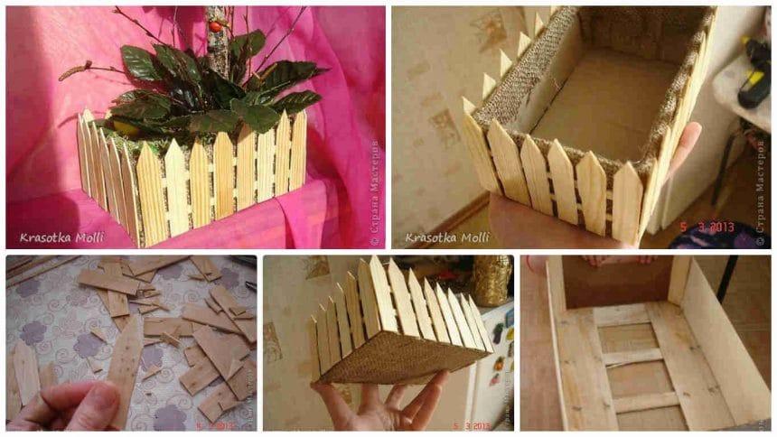 How to make fences flower pot