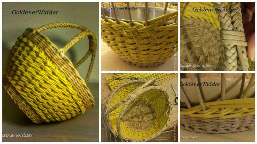 How to make double handle basket