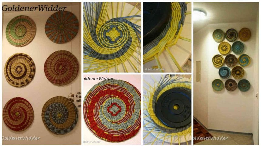 How too make wicker plates of paper for wall decoration